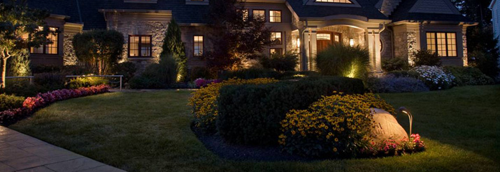 Residential landscape lighting morins landscaping outdoor lighting is also an effective deterrent against nighttime crime and unwanted intruders lighted areas can be manually activated automatically timed aloadofball Choice Image